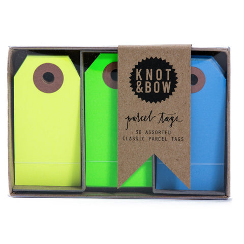 Cool Neon Parcel Tag Trio