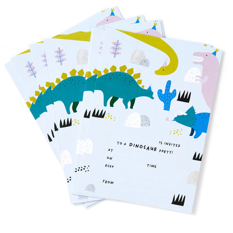 Dinosaur Invites - Pack of 12