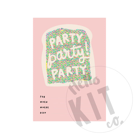 Fairy Bread Invite - (Digital Download)