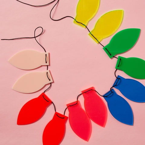 Coloured Acrylic Festoon Lights!