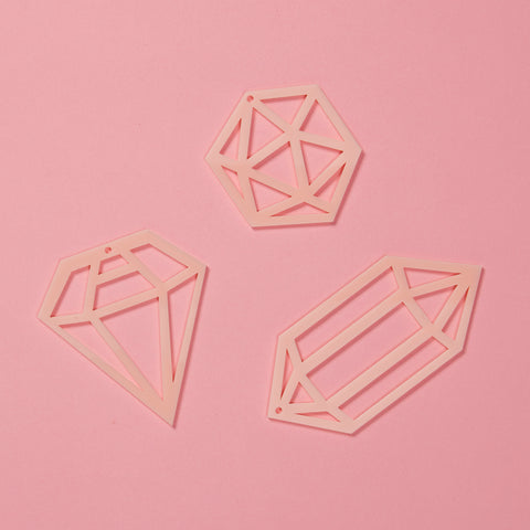 Gem Decorations Set - Blush