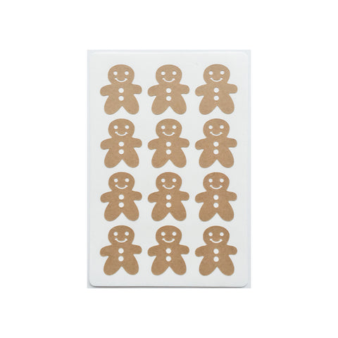 Gingerbread Men Stickers (12)