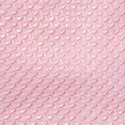 Blush Heart Bubble Wrap