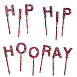 HIP HIP HOORAY TOPPERS - Multi Confetti