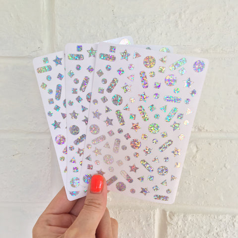 Confetti Stickers - Holographic