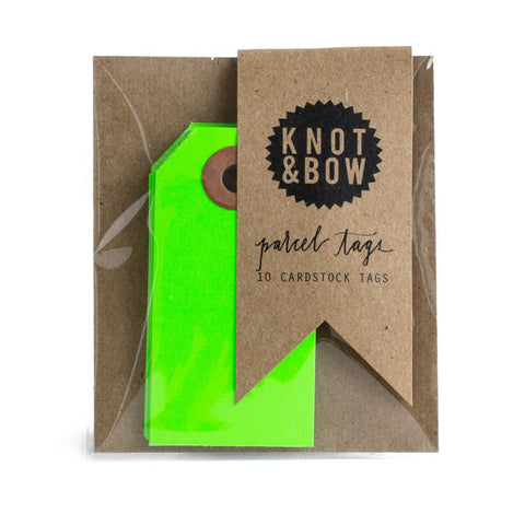 Neon Green Parcel Tags