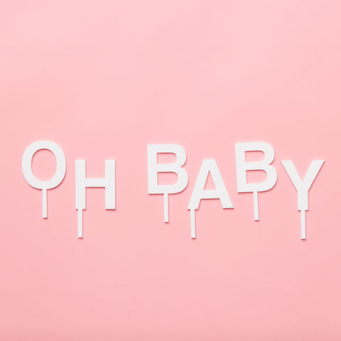 'OH BABY' Hollywood Cake Toppers
