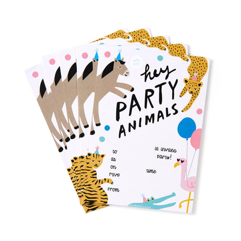 Party Animal Invites - Pack of 12