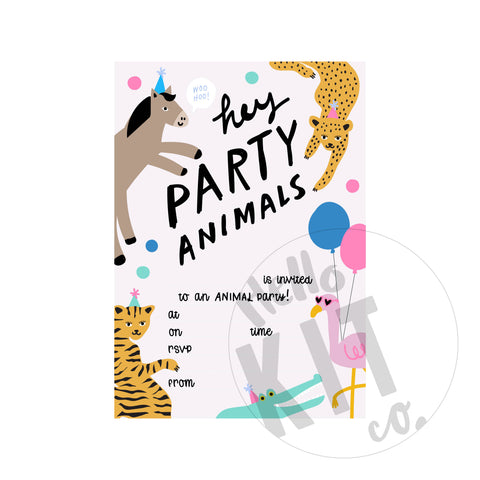 Party Animal Invite - (Digital Download)