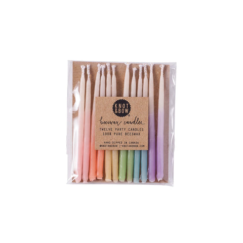 Pastel Ombré Beeswax Party Candles