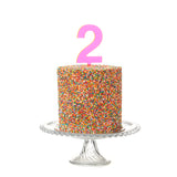 Pink Perspex Cake Topper - More numbers available