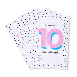 Pink No.10 Invites - Set of 12