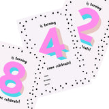 Pink Number Invites - (Digital Download)