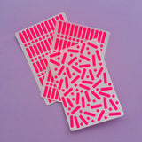 Sprinkle Stickers - Neon Pink