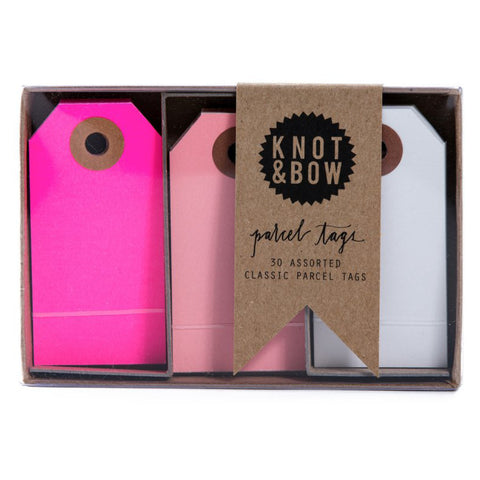 Pink Mix Parcel Tag Trio