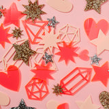 Mini Star Set - Neon Pink