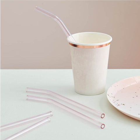Pink Glass Straws
