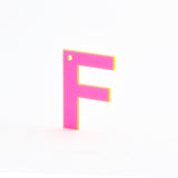 Neon Pink Letter - more letters available