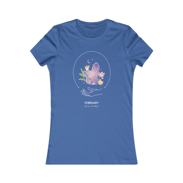 Women's Favorite Tee - February - Strong Amethyst