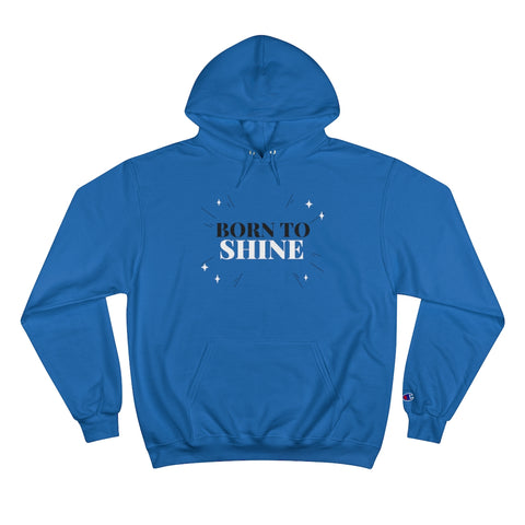 Unisex Champion Hoodie - Born to Shine - Crystal Flower