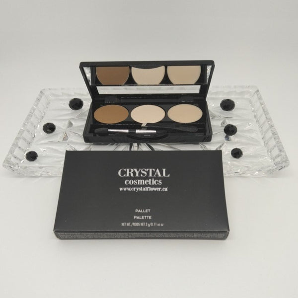 CRYSTAL Brow Pallet - Brow Heaven (Golden Brown) - Crystal Flower