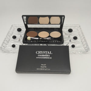 CRYSTAL Brow Pallet - Brow Thrill (Deep Brown) - Crystal Flower