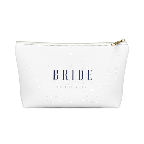 Bride of the Year Cosmetic Travel Bag - Crystal Flower