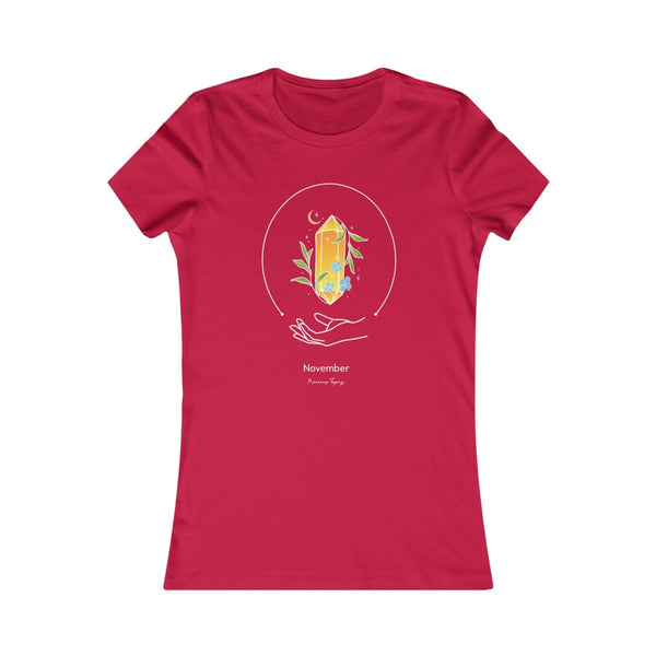 Women's Favorite Tee - November - Precious Topaz