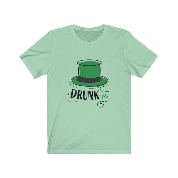 Unisex Jersey Leprechaun Hat Short Sleeve Tee - Crystal Flower