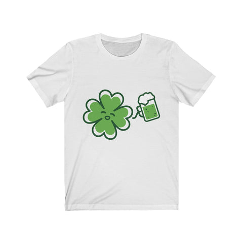 St. Patrick's Day Unisex Jersey Short Sleeve Tee - Crystal Flower