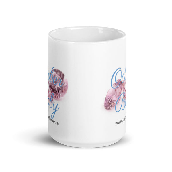 Mug - October Baby - Crystal Flower