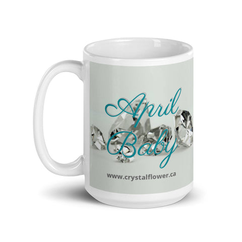 Mug - April Baby - Crystal Flower