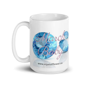 Mug - March Baby - Crystal Flower