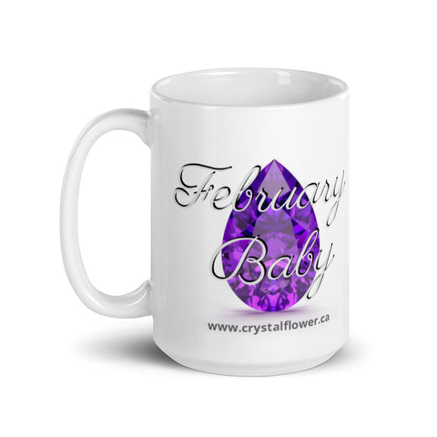 Mug - February Baby - Crystal Flower
