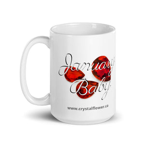 Mug - January Baby - Crystal Flower