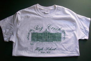 Big Creek t-shirt - Other High School T-shirts available for Class Reunions & Graduations
