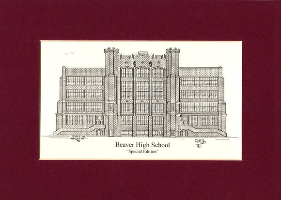 Beaver High School Print (c) 2020 Robert E Duff Sr - duffcreations.com
