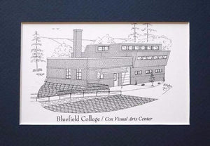 Bluefield College Graduation Gifts - matted print Personalized with year  (Choose from 4 buildings)