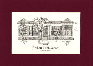 Graham High School Print (old) (c) 2021 Robert E Duff Sr - duffcreations.com