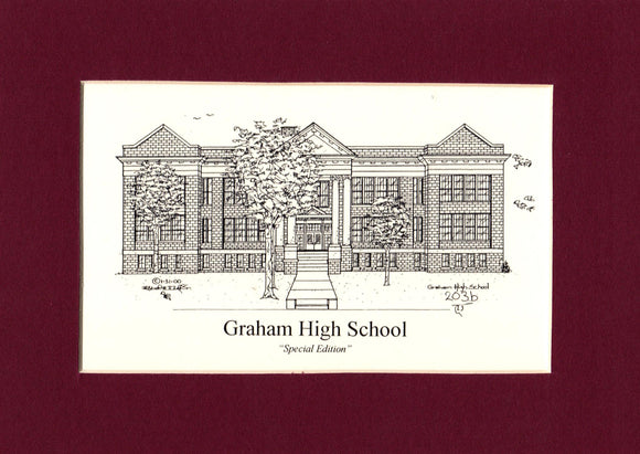 Graham High School Print (former) (c) 2021 Robert E Duff Sr - duffcreations.com