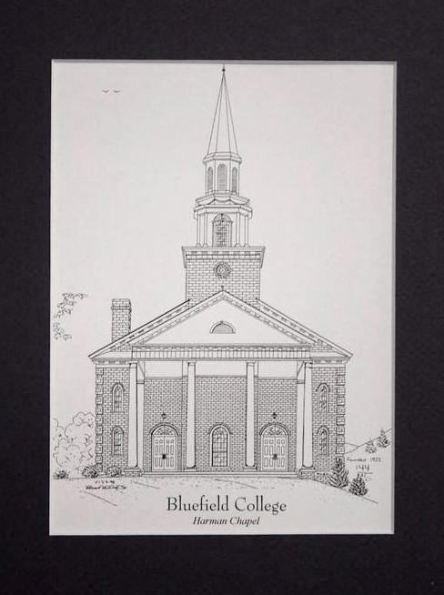 Harman Chapel Bluefield College print duffcreations.com (c) 2020 Robert Duff Sr