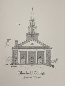 Bluefield College Harman Chapel note cards