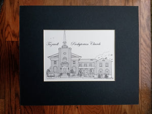 Tazewell Presbyterian Church pen & ink print by Artist: Robert Duff, Sr.