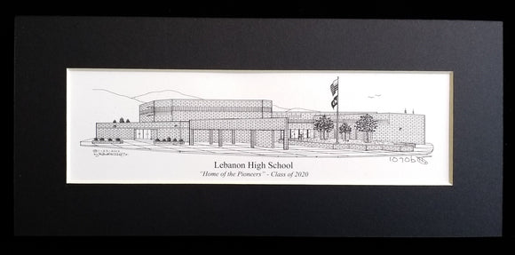 Lebanon High School Print (c) 2021 Artist: Robert Duff, Sr. duffcreations.com