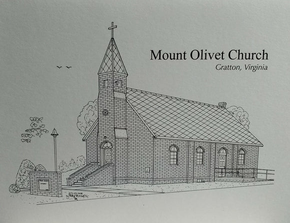 Mount Olivet Church (Gratton Virginia) (c) 2021 Robert E Duff Sr duffcreation.com