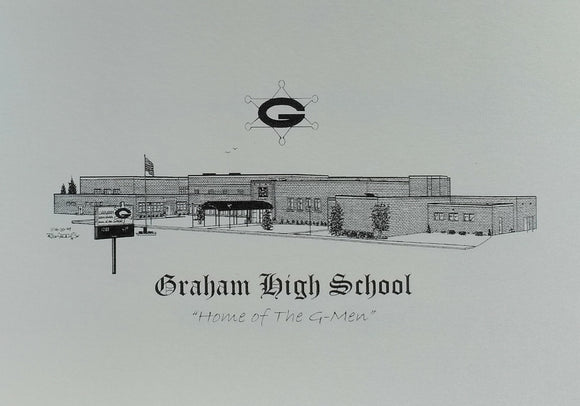Graham High School Note Cards (c) 2021 Robert Duff Sr - duffcreations.com