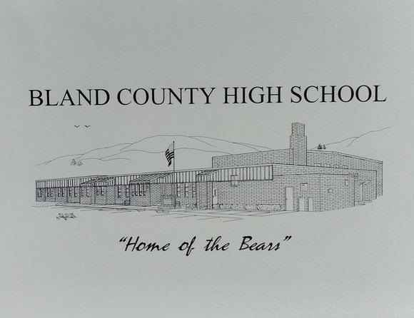 Bland County High School note card (c) 2021 Robert E Duff Sr - duffcreations.com