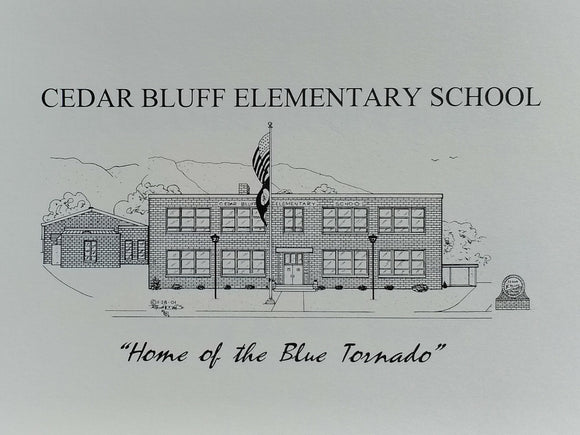 Cedar Bluff Elementary School note card (c) 2021 Robert E Duff Sr - duffcreations.com