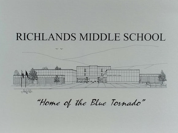 Richlands Middle School note card (c) 2021 Robert E Duff Sr - duffcreations.com