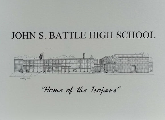 John S Battle High School note card (c) 2021 Robert E Duff Sr - duffcreations.coml